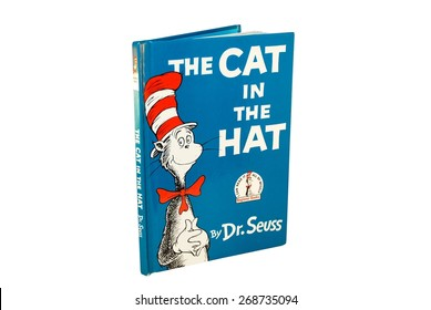 HAGERSTOWN, MD - MARCH 6, 2015: Image of The Cat in the Hat book by Dr. Seuss. Dr. Seuss is widely know for his children's books.