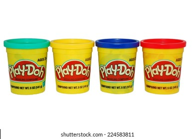 HAGERSTOWN, MD - OCTOBER 13, 2014:  Image of Play-Doh, a non-toxic modeling compound that was first marketed to schools in the mid 1950's.