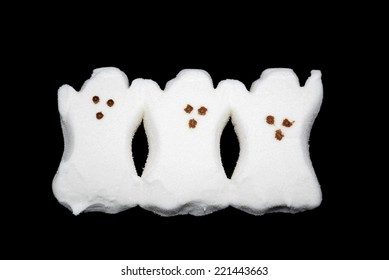 HAGERSTOWN, MD - SEPTEMBER 30, 2014: Image of Peeps Marshmallow Ghosts. Peeps are a popular seasonal candy in the US and Canada.
