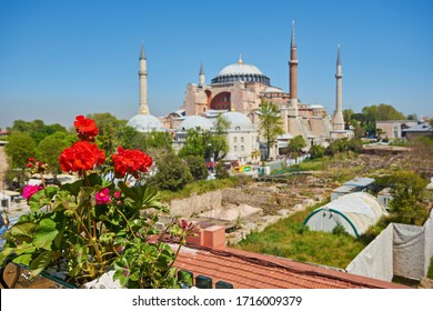 Haghia Sophia in Istanbul Turkey. One of the oldest and the most prominent landmarks in Turkey.