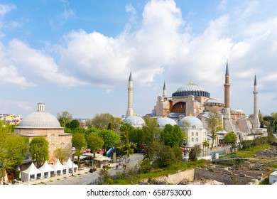 Hagia Sophia / Ayasofya. Hagia Sophia is the famous historical building of the Istanbul. Turkey.