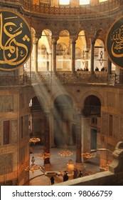 The Hagia Sophia (Ayasofya) interior, Istanbul, Turkey