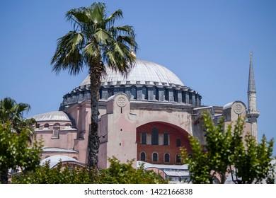 Hagia Sophia (Ayasofya) Museum On A Summer Day