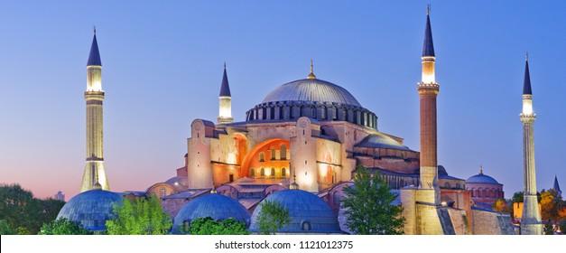 Hagia Sophia during sunset, Istanbul, Turkey