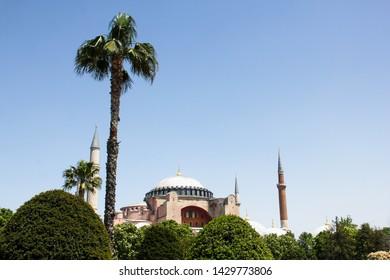 Hagia Sophia is the famous beautiful historic landmark in Sultanahmet, Ayasofya Müzesi in Istanbul, Turkey