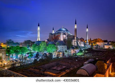 Hagia Sophia is a great architectural beauty and an important monument both for Byzantine and for Ottoman Empires. Istanbul, Turkey