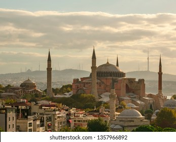 Hagia Sophia in Istanbul the early summer morning.