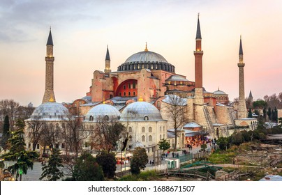 Hagia Sophia is the largest church built by the Eastern Roman Empire in Istanbul, Turkey 12 February 2019