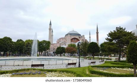 Hagia Sophia Museum and empty city during the coronavirus pandemic / Istanbul, Turkey / 21 May 2020