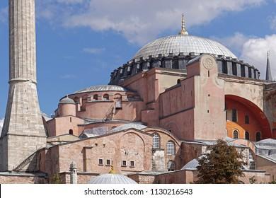 Hagia Sophia museum mosque in Istanbul Turkey