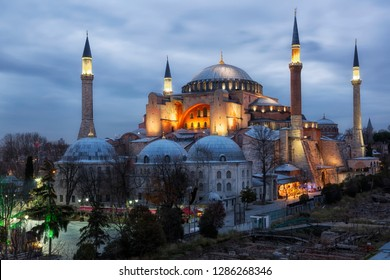 Hagia Sophia on sunset, Istanbul