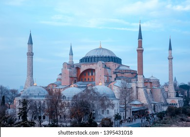 The Hagia Sophia (The Church of the Holy Wisdom or Ayasofya in Turkish) spectacular Byzantine landmark and world wonder in Istanbul, Turkey, interior view from the upper gallery