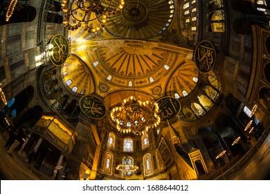 The Hagia Sophia, İstanbul, Turkey 22 January 2013  (The Church of the Holy Wisdom or Ayasofya in Turkish) spectacular Byzantine landmark and world wonder in Istanbul, Turkey,