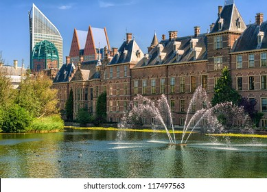 The Hague, capital of Netherlands, Binnenhof palace, place of Parliament