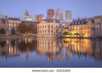 The Hague hofvijver cityscape