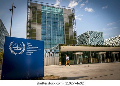 THE HAGUE, HOLLAND. July 19, 2017. The International Criminal Court (ICC) in Hague, Netherlands. New building designed by the Schmidt Hammer Lassen Architects. It's a global supreme criminal tribunal.