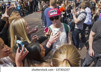 THE HAGUE, HOLLAND - MAY 3: Niall Horan of the boy band One Direction leaves Hotel des Indes in The Hague, Holland on May 3, 2013