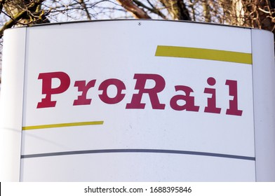 The Hague, Netherlands 18 february 2020; Prorail sign in the Hague in the Netherlands