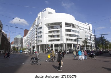 The Hague, Netherlands, 6 may 2015: city hall of dutch town the hague by richard meier