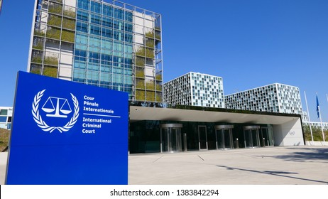THE HAGUE, THE NETHERLANDS – APRIL 21, 2019: The International Criminal Court in the City of The Hague