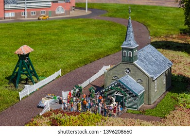 The Hague, Netherlands - April 26, 2017: Wedding in Madurodam miniature park in The Hague.