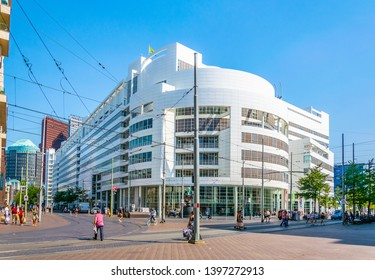 THE HAGUE, NETHERLANDS, AUGUST 7, 2018: View of new, modern town hall of the Hague, Netherlands