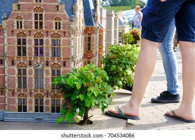 Hague, Netherlands - Augustus 27, 2017: Madurodam, Holland miniature park and tourist attraction in Hague, Netherlands.