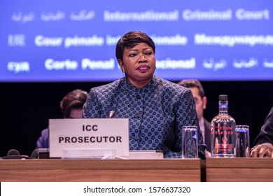 The Hague, Netherlands- December 02 2019 : The International Criminal Court (ICC-CPI) has his Assembly of States Parties conference, Fatou Bensouda, prosecutor