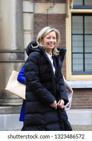 The Hague, The Netherlands - February 22, 2019: Minister of Internal affairs and Kingdom Relations and second Deputy Prime Minister Kajsa Ollongren leaves the weekly Council of Ministers in The Hague