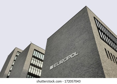 THE HAGUE, THE NETHERLANDS ,?? JANUARY 18, 2014: Photo of the new Europol Headquarter in The Hague, Den Haag, with the Europol sign. January 18,2014 The Hague, The Netherlands