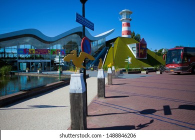 The Hague, Netherlands -  june 05 2009 : A real family attraction with a lighthouse as entrance madurodam