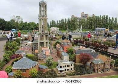 Hague, Netherlands, June 13. 2016, Utrecht tower model in Madurodam