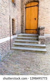 The Hague / The Netherlands - March 2019. Entrance of de Tweede Kamer, House of Representatives, at Binnenhof in the Hague, the political center of the Netherlands seated in the Hague