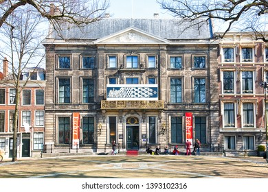 The Hague / The Netherlands - March 2019. Front Escher in Het Paleis (Escher in The Palace) is a museum in The Hague, Netherlands, featuring the works of the Dutch graphical artist M. C. Escher.