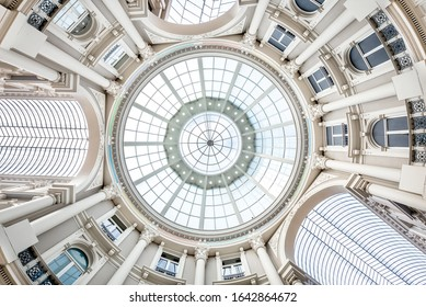 The Hague / The Netherlands - May 05, 2019: Bottom view of the Passage