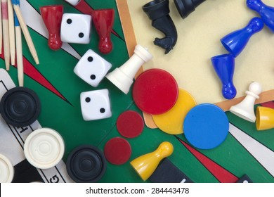 The Hague ,Netherlands -may 14, 2015: illustrative editorial image of several games on different boards