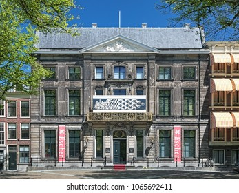THE HAGUE, NETHERLANDS - MAY 21, 2015: Escher in Het Paleis (Escher in The Palace) - museum of Dutch graphical artist M. C. Escher in Lange Voorhout Palace. Museum is housed here since November 2002.