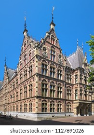 THE HAGUE, NETHERLANDS - MAY 24, 2015: The building of the Department of Justice. It was built in 1876-1883 by design of architect Cornelis Peters.