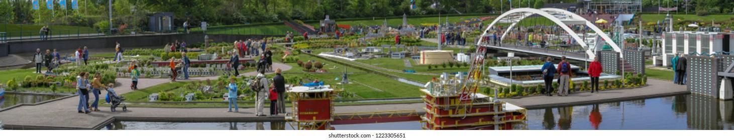 The Hague, Netherlands - May 9 2003: The Miniature park Madurodam in Hague.