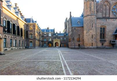 The Hague, Netherlands - September 02, 2018: Inside Binnenhof In The Hague