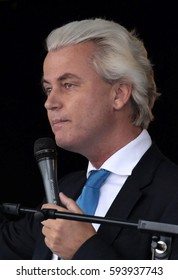 The Hague, The Netherlands - September 2013: Fleur Agema member of the dutch political party PVV of Geert Wilders