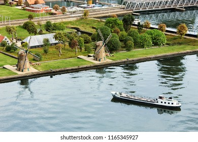 The Hague, Netherlands, South Holland, Europe, 11-August 2018: Miniature attraction park Madurodam. Netherlands in miniature in the Madurodam open air museum
