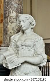 HAGUE, NETHERLANDS-AUGUST 01, 2014: Marble statues in Grote Kerk Den Haag or Grote of Sint-Jacobskerk built during15-16 centuries.