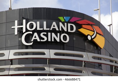 The Hague, Netherlands-august 9, 2016: facade of holland casino, Holland Casino is the only legal provider of casino in Netherlands
