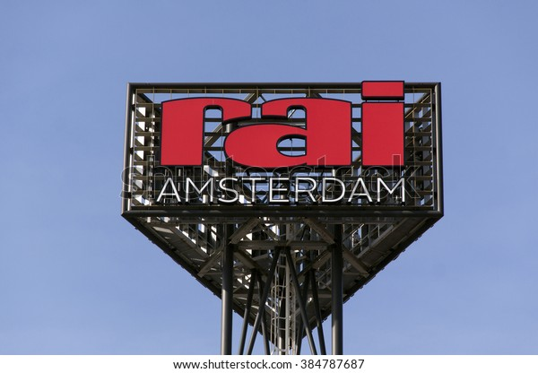 the hague, Netherlands-february 28, 2016:Amsterdam RAI is an events, congress and exhibition center in Amsterdam.