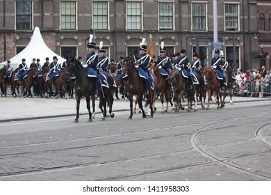 The Hague, South Holland, The Netherlands, September 15, 2009. The military escort of honour left the Binnenhof and the procession returned to Noordeinde Palace, Den Haag, Zuid Holland in Nederland.