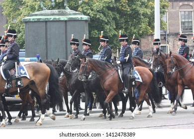 The Hague, South Holland, The Netherlands, September 15, 2009. The military escort of honour left the Binnenhof and the procession returned to Noordeinde Palace during Prinsjesdag in Den Haag.