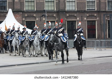 The Hague, South Holland, The Netherlands, September 15, 2009. The military escort of honor left the Binnenhof and the procession returned to Noordeinde Palace during Prinsjesdag in Den Haag.