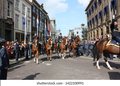 The Hague, South Holland, The Netherlands, September 16, 2008. The soldiers on horses on Prinsjesdag annual presentation of Government Policy to Parliament by Queen Beatrix in Den Haag, Nederland.