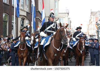 The Hague, South Holland, The Netherlands, September 16, 2008. The Royal Netherlands Army parades during Prinsjesdag annual presentation of Government Policy to Parliament by Queen Beatrix.